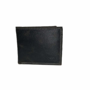 Distressed Leather Wallet Navy