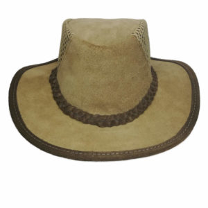 Kalahari Suede Netted Leather Hat