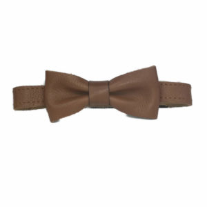Leather Plain Adult Bowtie