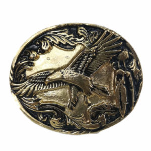 Eagle Black and Gold Buckle
