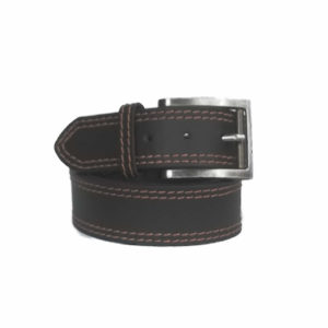 40mm Double Stitched Brown Belt