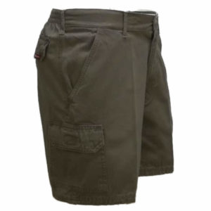 Elasticated Cotton Canvas Short Taupe