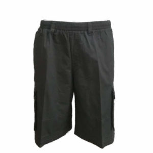 Full Elasticated Structured Charcoal Short