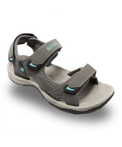Ladies Ridge II Sandal Grey/Turquoise